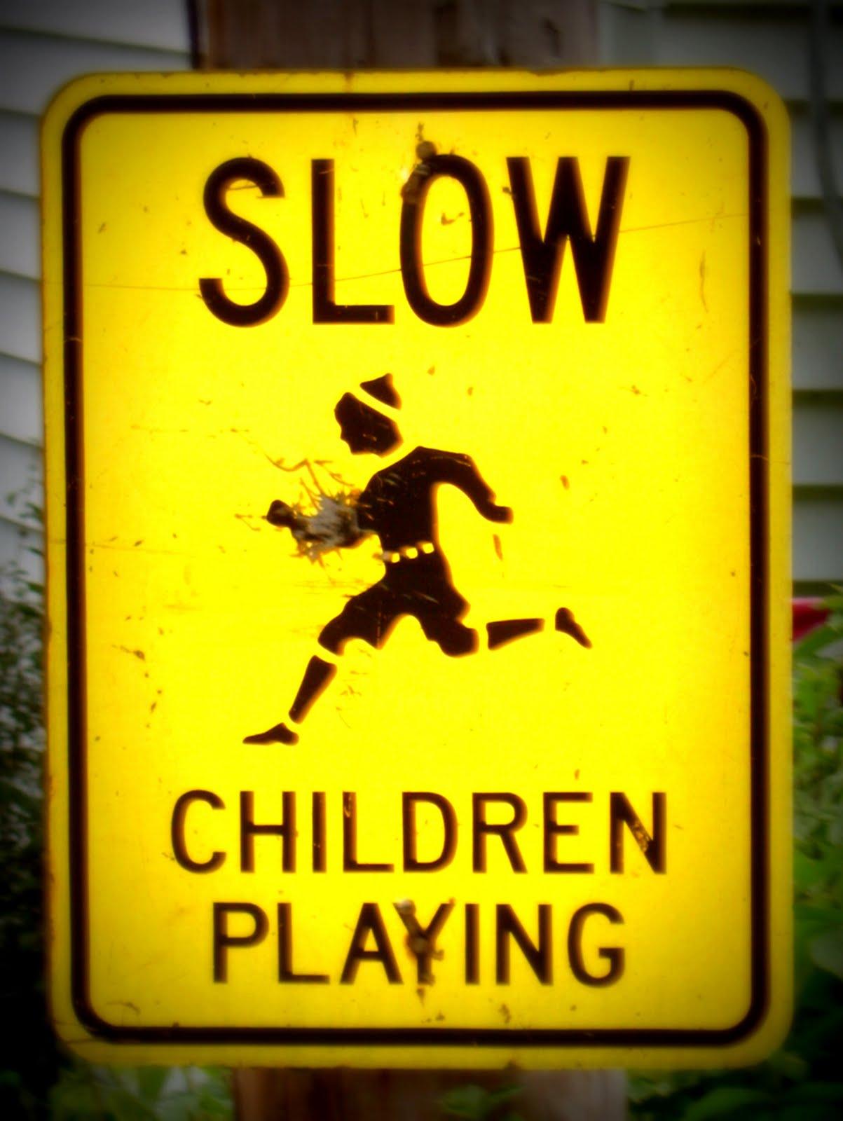 Caution: children playing